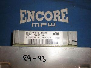 1989-1993 Mustang 5.0L Mass Air Computer A3M ECU MAF ECM PCM Manual Stick V8 GT