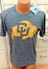 Ncaa Colorado University Gray Mens Short Sleeve Shirt Size Large New
