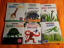 World of Eric Carle Books Lot of 6 My First Smart Pad Books Only ~ Quick & Slow