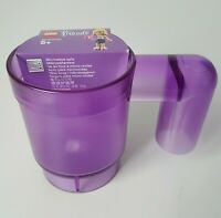 LEGO Friends Upscaled Purple Plastic Childrens Size Small Coffee Mug Holds 9 oz