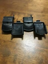 Lot 2 Startac Motorola Flip Cell Phones Black Fast Shipping Vintage Good Used