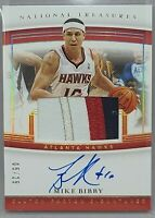 2019-20 National Treasures Mike Bibby Patch Auto 5/25 Atlanta Hawks SP