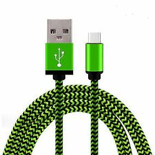 Green Aluminium Braided Micro USB 3.1 Sync Cable Charger For Moto Z  Z Force