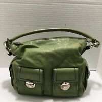 Marc Jacobs Stella Green Avocado Lime Silver Hardware Leather Bag Pockets Purse