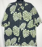 Cooke Street Honolulu Hawaiian Shirt XL Inside Out Style Leaf Print 100% Cotton