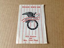 1975 MLB CHICAGO WHITE SOX AMERICAN LEAGUE SCHEDULE OVERSIZED