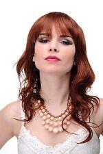 Perruque pour Femme Long Ondulés Rouge Auburn Léger Wetlook Frange 5019-130