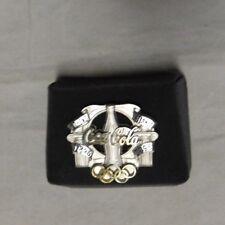 "Coca Cola Athens Atlanta Olympic Games Vintage Silver Pin 1896-1996 ""Rare"""