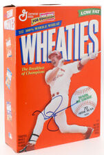 MARK MCGWIRE SIGNED WHEATIES CEREAL BOX w/JSA COA OAKLAND A's ST LOUIS CARDINALS