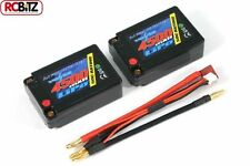 VOLTZ 4500mah HARD Case 7.4V 50C LiPo SADDLE Pack Battery VZ0313 RC UK rcBitz