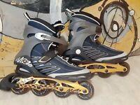 K2 Moto M Inline Skates Men's Sz 13 Blades Original 84mm Wheels BOA Straps ILQ7