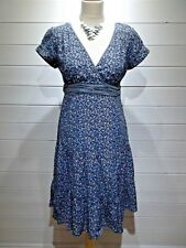 Fat Face Dress ~ Size 12 ~ Blue & Pink ~ Cap Sleeve ~ Casual, Everyday  ~ 1896
