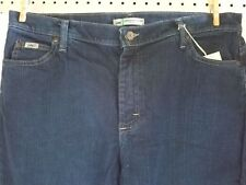 Women's Lee Blue Jeans Stretch Size 16 Relaxed Straight Leg at the Waist