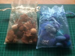 Felted beads  necklace making kit x2