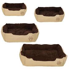 Lit douillet pour chiens panier corbeille couchage beige - brun