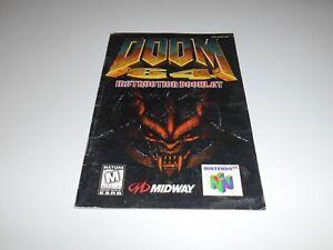 Vintage 1997 Nintendo 64 DOOM 64 N64 Instruction Booklet Book Manual Only Midway