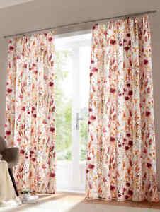4 x H/245 x B/130 Dekogardine 100% Baumwolle Seitenschal Vorhang Rosa-Blumen