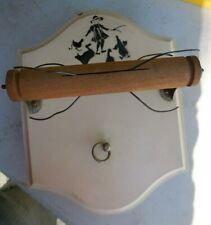 Thorens Antique Musical Toilet Paper Holder TP Music Box Switzerland