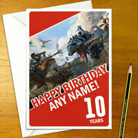 ARK SURVIVAL EVOLVED Personalised Birthday Card - personalized video game