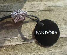 Authentic Pandora Charm Sparkling Paw Print 791714cz Dog, Cat Tag & Hinged Box