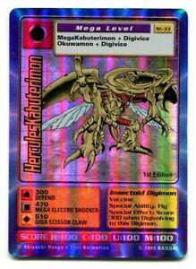 St-33 HerculesKabuterimon 1st edition HOLO Card Digimon TCG Digi-Battle Bandai