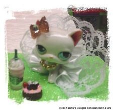 Littlest Pet Shop clothes accessories Custom OUTFIT WHITE/GOLD SKIRT (NO CAT)