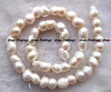 "new 10x15mm white freshwater Pearl gourd Beads 16"" natural color high quality"