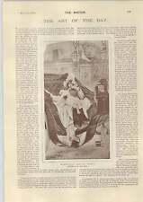1893 Art Notes Edward Tayler Mlle Bebe Finney