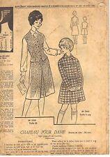 PATRON DE COUTURE  Gilet et jupe taille  46 et 9 ans