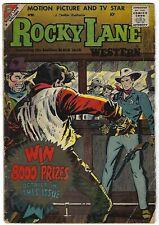Rocky Lane Western #84 - Rocco Mastroserio cover - Vince Alascia, Ernie Hart art