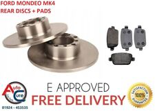 FOR FORD MONDEO MK4 2.0 TDCi REAR BRAKE DISCS AND PADS 07- 15 **NEW**