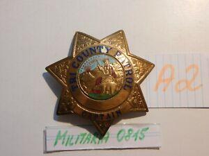 Polizei Sammlungs Auflösung , Abzeichen USA Tri Country Patrol Captain   A 2