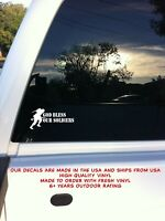 God Bless Our Soldiers Military War Car Auto Truck Window Vinyl Decal Sticker