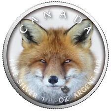 Kanada - 5 Dollar 2019 - Maple Leaf - Wildlife (2.) - Rotfuchs - 1 Oz Silber ST