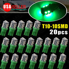 20 PCS Super GREEN Wedge T10 10-SMD LED Light bulbs W5W 2825 158 192 168 194 12V