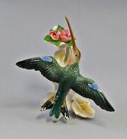 PORCELAIN FIGURINE KOLIBRI Flying with Blossom Bird Ens H18CM a1-41106#