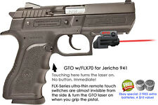 ArmaLaser GTO for Jericho 941 - Red Laser Sight w/ FLX70 Grip Touch Activation