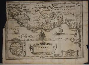 WEST AFRICA GUINEA BENIN SIERRA LEONE 1690ca SWARDT ANTIQUE COPPER ENGRAVED MAP