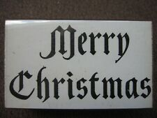 OLD ENGLISH MERRY CHRISTMAS RUBBER STAMP- UNMARKED