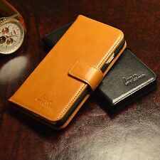 NEW Luxury Leather Wallet Flip Case For Apple iPhone 5 5S 6 6S SE Brown Black