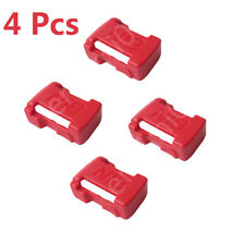 4 Pcs Milwaukee 18V Slider Li-ion Battery Portable Shelf Rack Belt Buckle (RED)