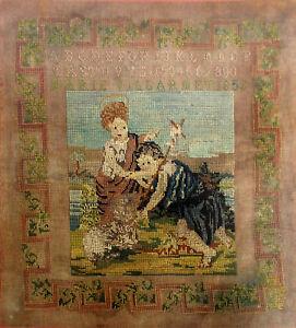 Broderie, sampler - 1852