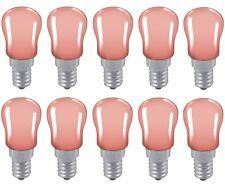 10x Pink Light bulb Pygmy 15W SES E14 Small Edison Screw Cap Colour Sign Lamp