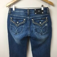 Miss Me Studded Bootcut Jeans Flap Pocket Size 27 Inseam 32