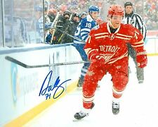 DAN CLEARY signed DETROIT RED WINGS 8X10 WINTER CLASSIC PHOTO COA