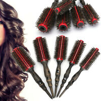 1/5Pcs Bristle Round Brush Hair Hairdressing Salon Tool Natural Wood Roller Comb