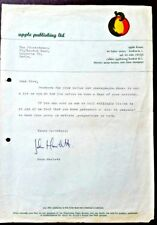 BEATLES - Apple Publishing Ltd - ORIGINAL LETTERHEAD - George Harrison Director