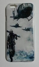 Military Army Helicopter Plane Soldier Back Case Cover for iPhone 6 6S 4.7""