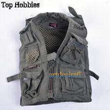 "1:6 Soldier Army Green Vest Journalist Vest Model for 12"" Action Figure Hot Toys"