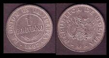 ★★ BOLIVIE ● 1 BOLIVIANO 1987 ● E14 ★★